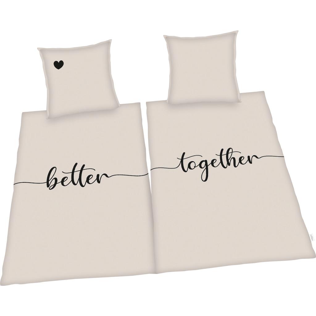 Herding Bettwäsche »Better together«, Kissenbezüge mit Stehsaum