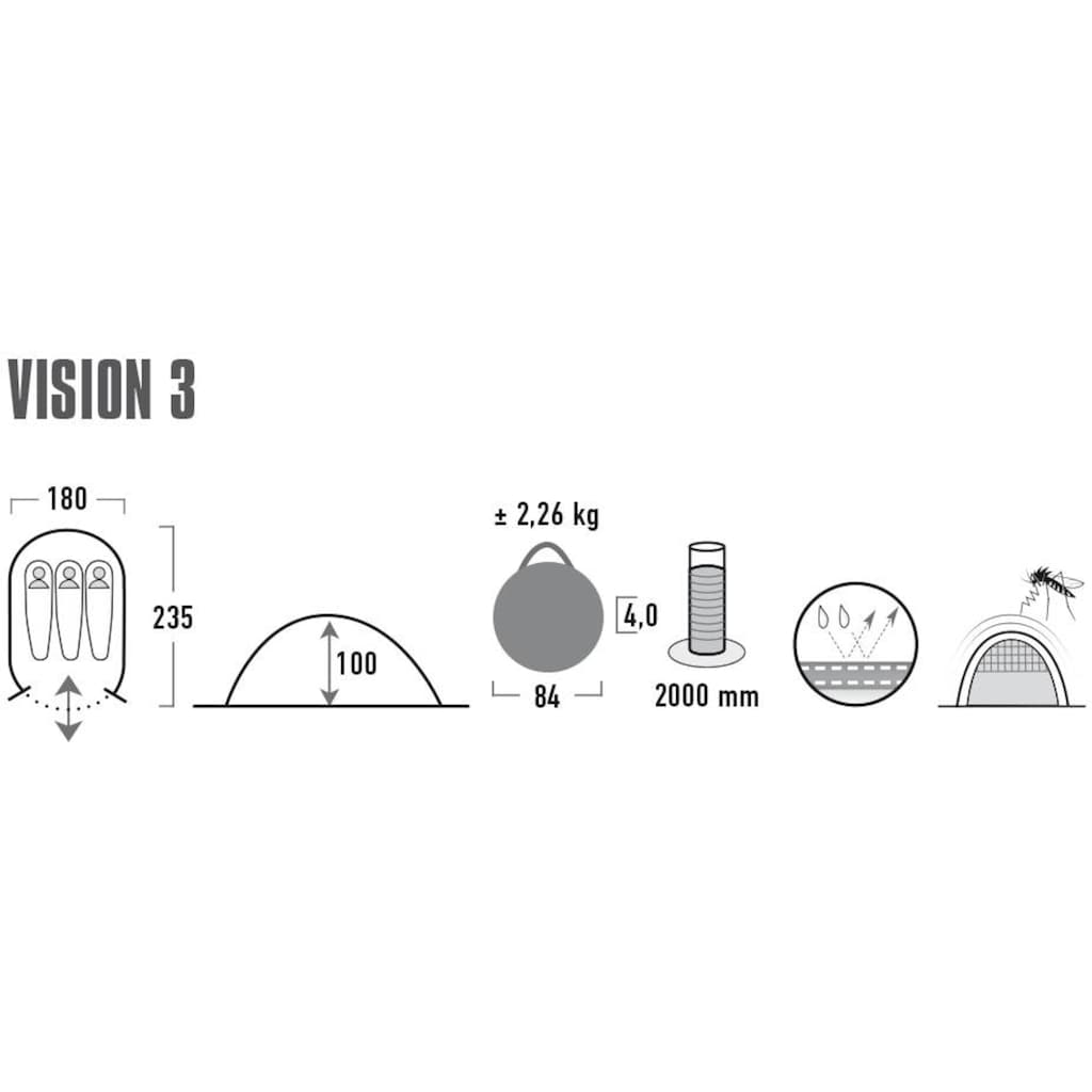 High Peak Wurfzelt »Pop up Zelt Vision 3«, 2 Personen, (mit Transporttasche)