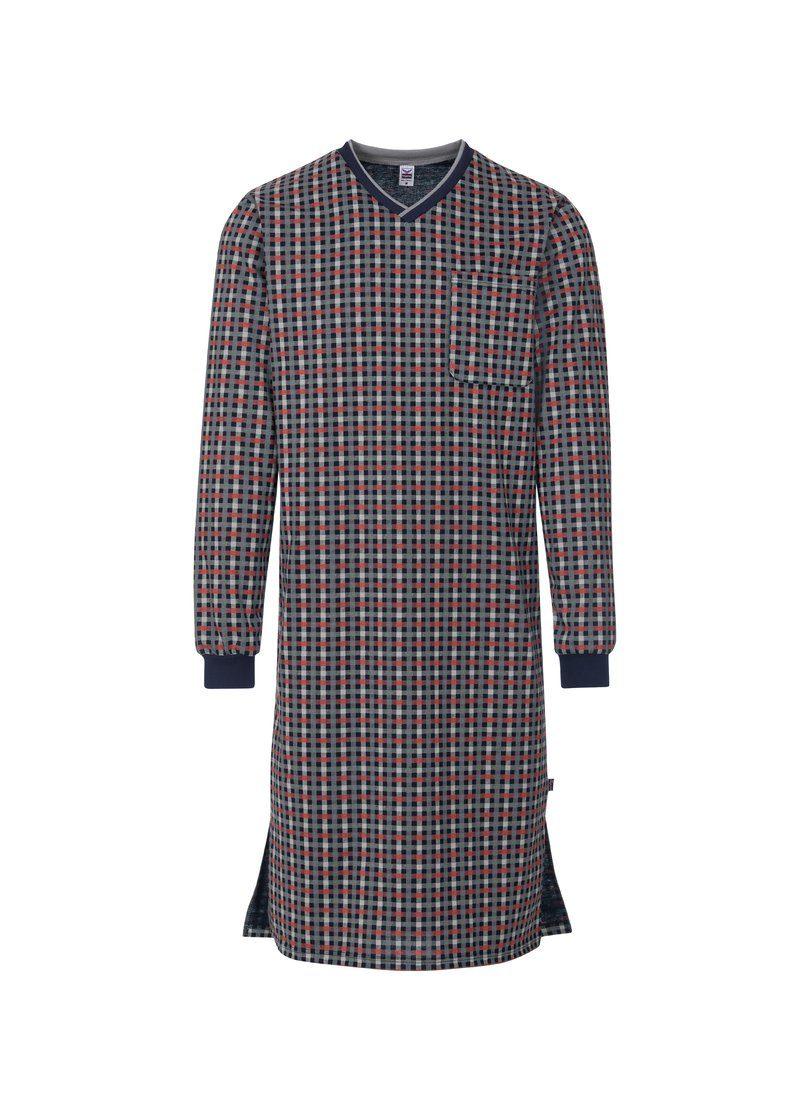 Trigema Langarm Nachthemd mit Karomuster