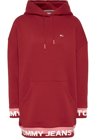 TOMMY JEANS Sweatkleid »TJW BRANDED HEM SWEAT DRESS«, mit Bündchen im Colorblocking & Tommy Jeans Logo-Schriftzug kaufen