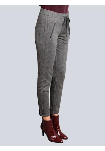 Alba Moda Jerseyhose, mit feinem kontrastfarbigem Streifenverlauf kaufen