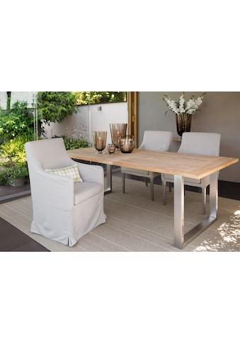 Fink Polsterstuhl »VIGO«, für Outdoor geeignet, UV beständig, mit langem Bezug kaufen