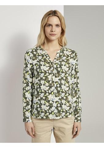 TOM TAILOR Hemdbluse »Bluse mit Blumenmuster« kaufen