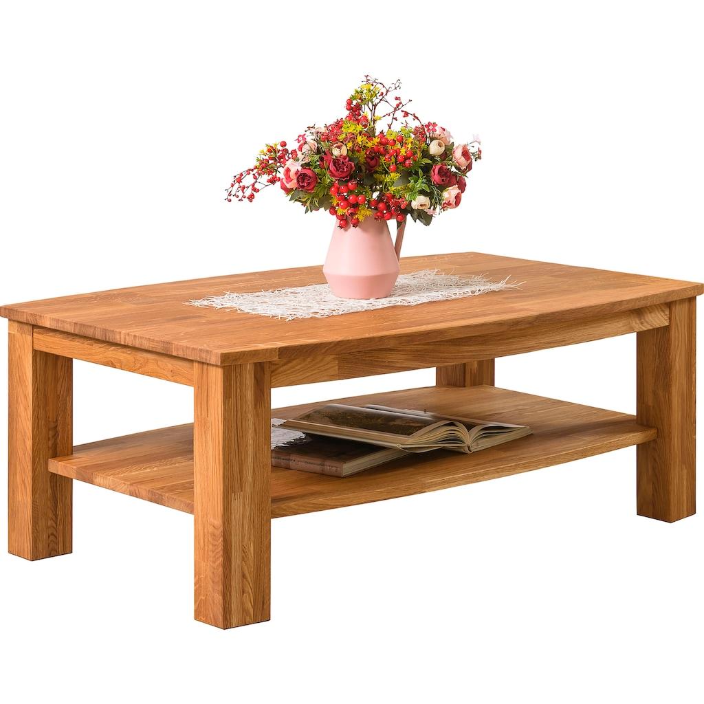 Home affaire Couchtisch »Friaul«, aus schönem massivem Eichenholz, mit einer pflegeleichten Oberfläche, Breite 110 cm