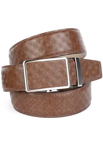 Anthoni Crown Ledergürtel, mit Karomuster kaufen