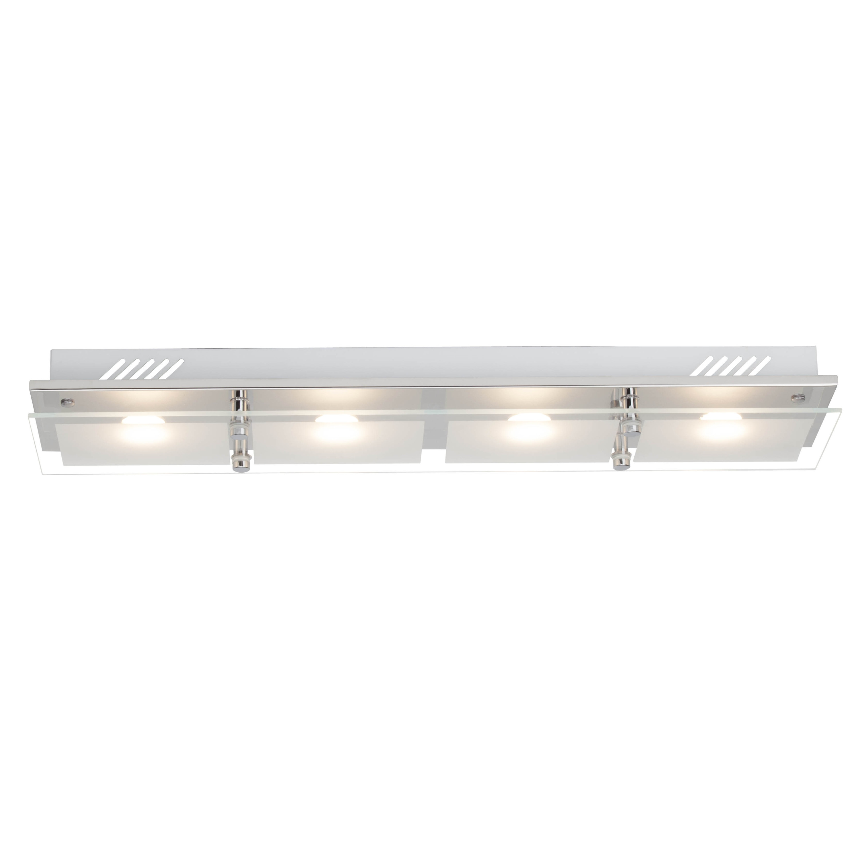 Brilliant Leuchten World LED Wand- und Deckenleuchte 66x14cm 4flg chrom | Lampen > Deckenleuchten > Deckenlampen | Glas - Metall | BRILLIANT LEUCHTEN