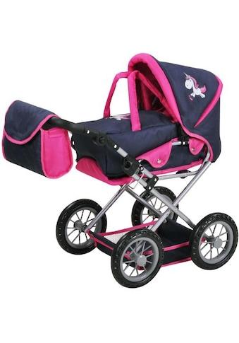 Knorrtoys® Kombi-Puppenwagen »Ruby, UMA. Das Einhorn, blau mit Wickeltasche« kaufen
