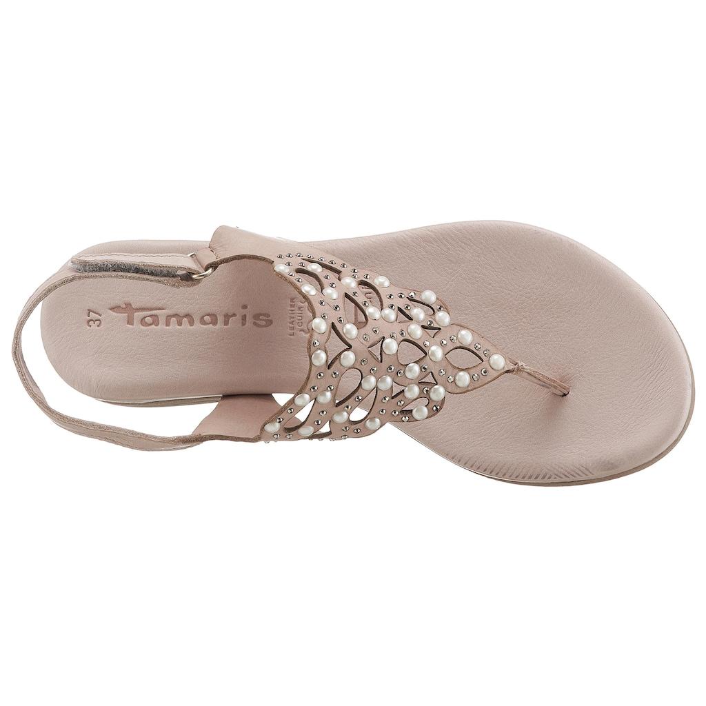 Tamaris Sandale »Kim«, mit aufwendiger Verzierung