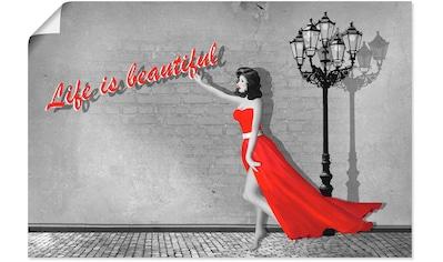 Artland Wandbild »Das Leben ist schön«, Frau, (1 St.), in vielen Größen & Produktarten... kaufen