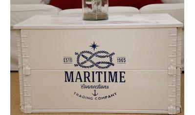 Uncle Joe´s Truhentisch, in maritimem Vintage-Look kaufen