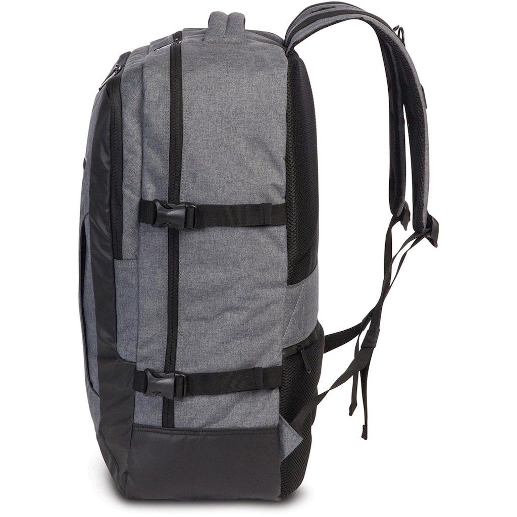 fabrizio® Laptoprucksack »Element Cabin Sicherheitsrucksack, grau«