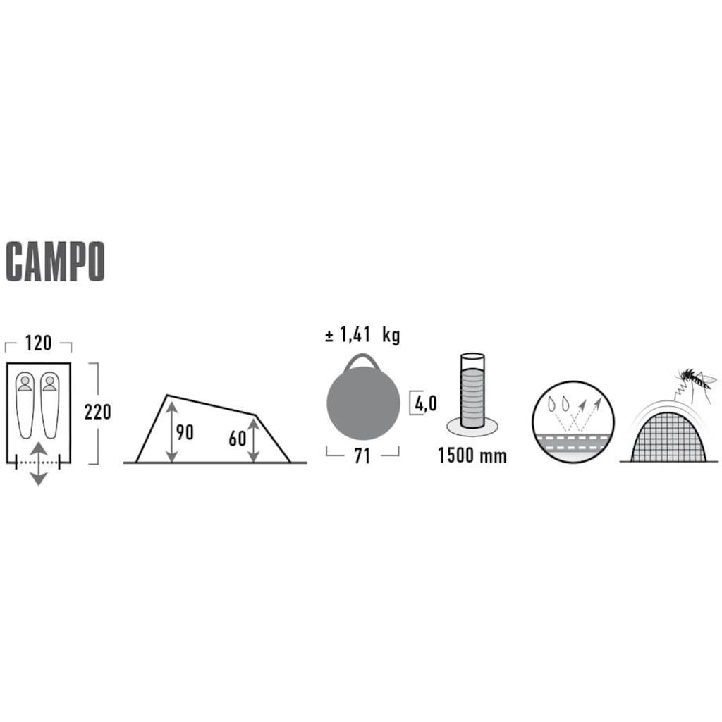 High Peak Wurfzelt »Pop up Zelt Campo«, 2 Personen, (mit Transporttasche)