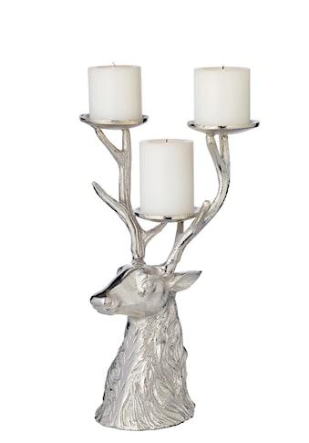 EDZARD Kerzenhalter »Hirsch«, für 3 Stumpenkerzen kaufen