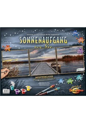 Schipper Malen nach Zahlen »Meisterklasse Triptychon, Sonnenaufgang am See«, Made in... kaufen
