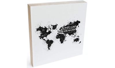 Wall-Art Holzbild »Tischdeko Weltkarte Holzdeko«, (1 St.) kaufen