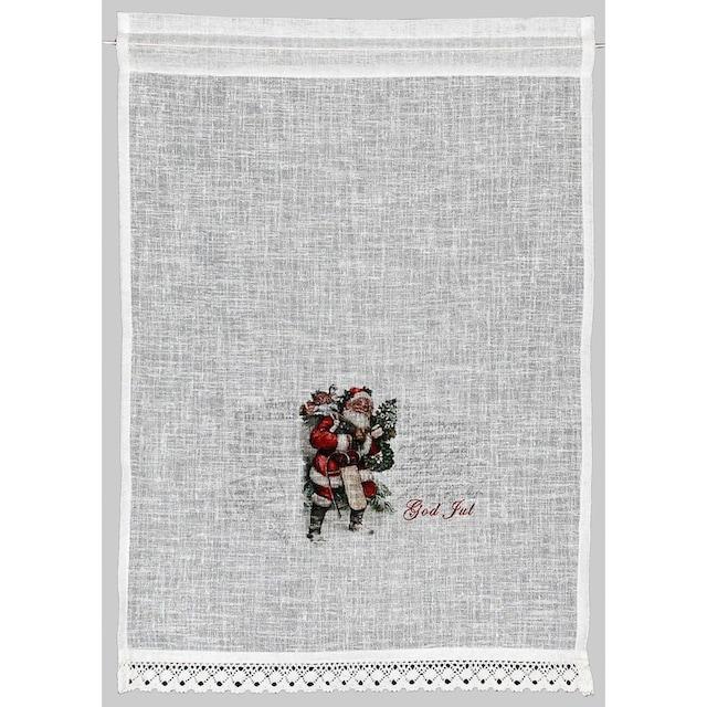 Scheibengardine, »Santa«, HOSSNER - ART OF HOME DECO, Stangendurchzug 1 Stück