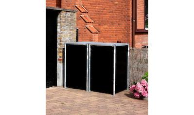 HIDE Mülltonnenbox für 2 x 240 l, schwarz kaufen