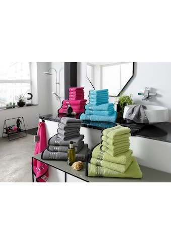 my home Handtuch Set »Jonnie«, mit gemusterter Bordüre kaufen