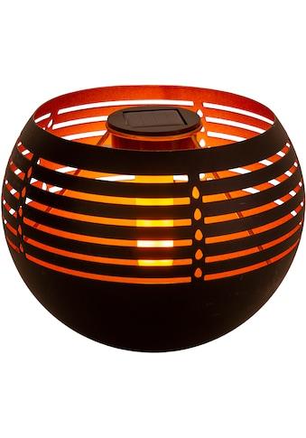 näve LED Außen-Tischleuchte »Solar-Tischleuchte«, LED-Modul, 1 St., Warmweiß, Flammeneffekt, Schiebeschalter kaufen