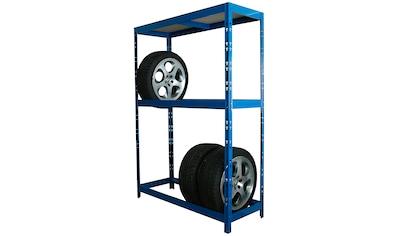 SZ METALL Schwerlastregal, B/T/H: 130x50x180 cm, für 8 Reifen, höhenverstellbar kaufen