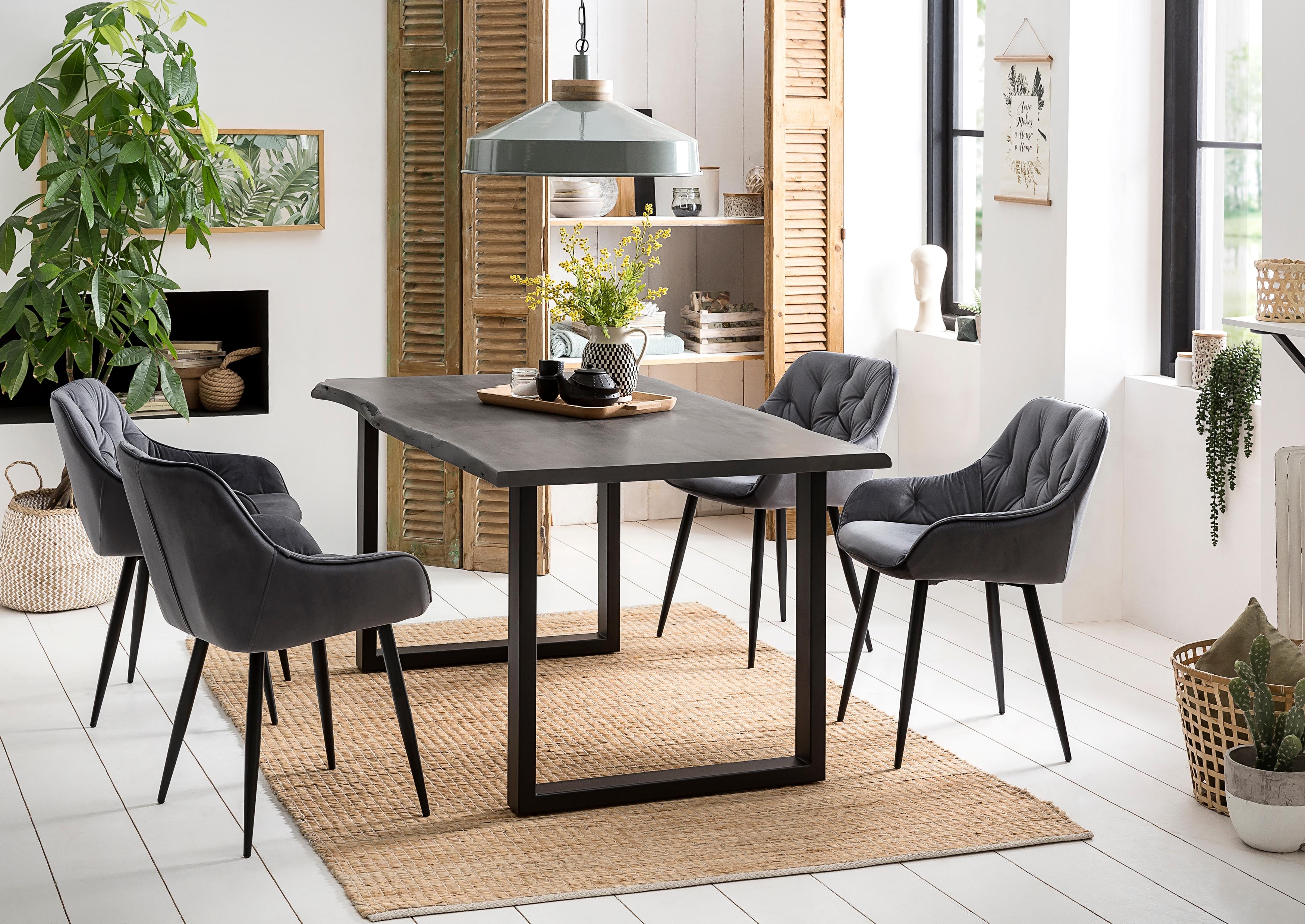 Premium collection by Home affaire Esstisch Manhattan, mit echter Baumkante günstig online kaufen