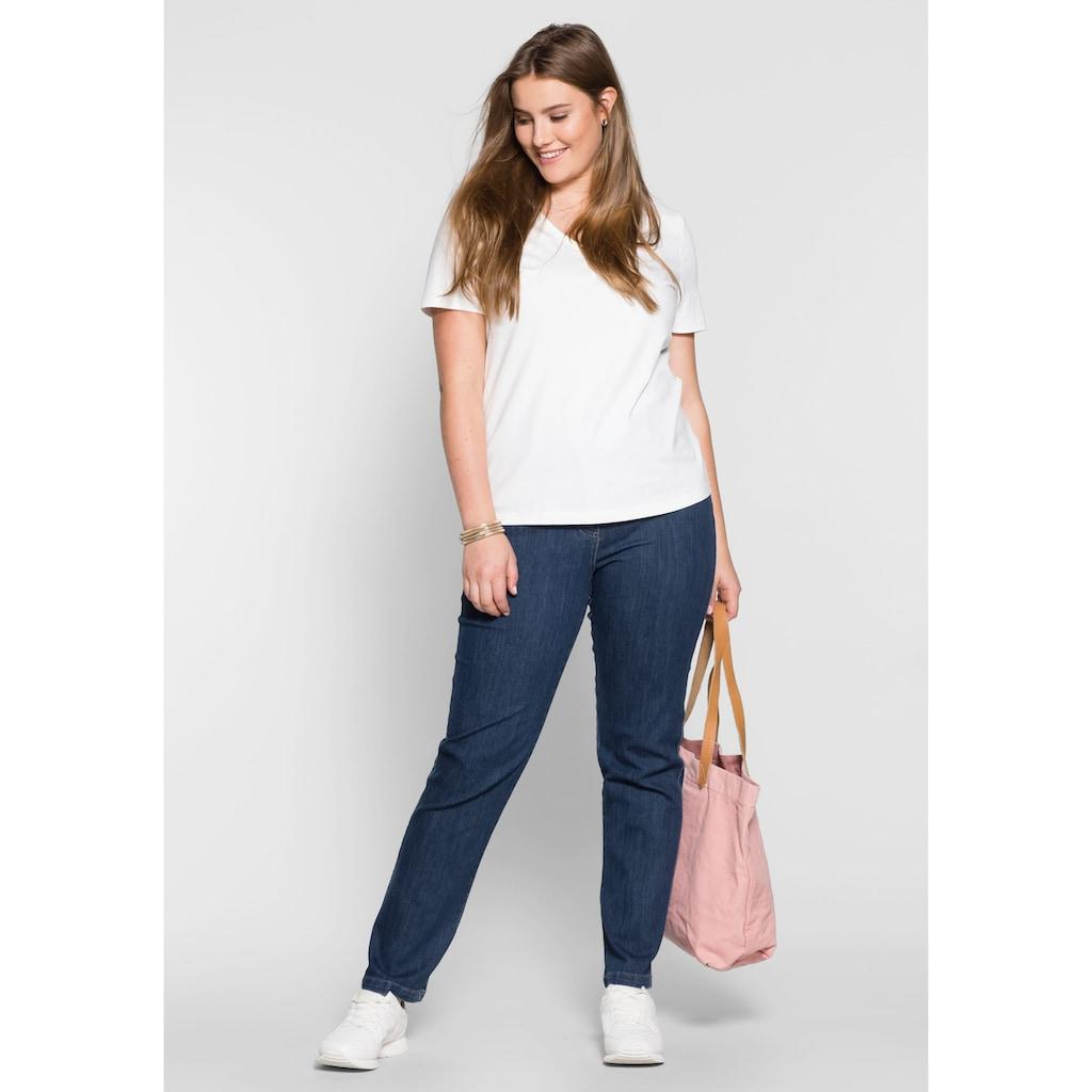 Sheego Stretch-Jeans, vielseitig kombinierbar