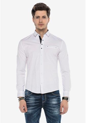 Cipo & Baxx Langarmhemd, in dezentem Design kaufen