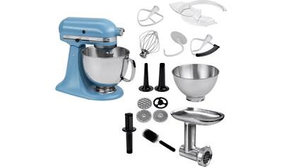 KitchenAid Küchenmaschine Artisan 5KSM175PSEVB mit Gratis Ganzmetall Fleischwolf, 300 Watt, Schüssel 4,8 Liter kaufen