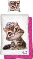 Kinderbettwäsche Tiara Katze