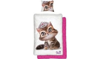 Kinderbettwäsche »Tiara Katze«, kaufen