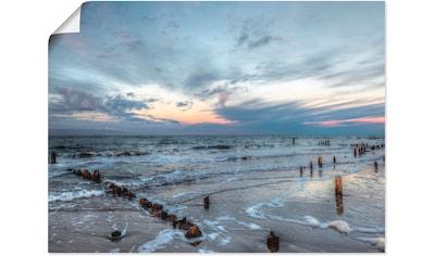 Artland Wandbild »Winter Sonnenuntergang am Meer«, Gewässer, (1 St.), in vielen Größen... kaufen