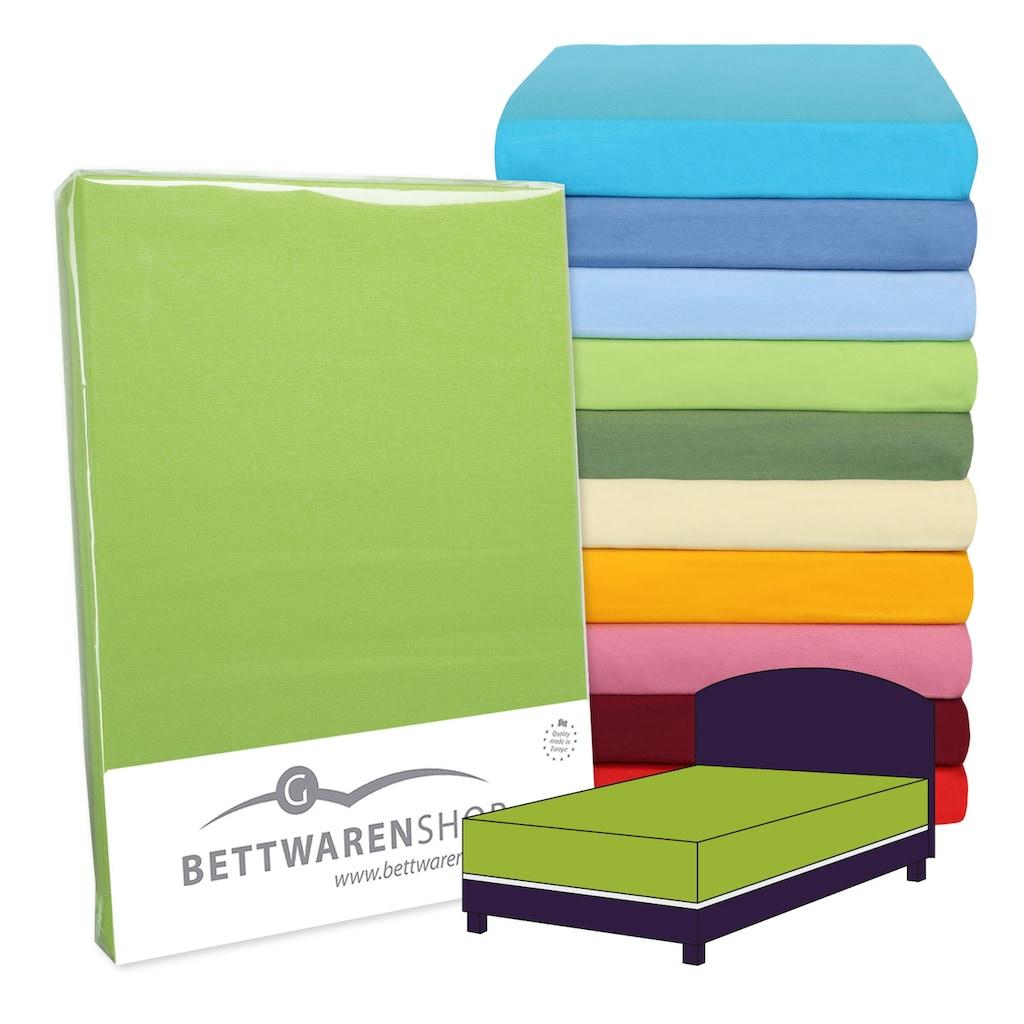 BETTWARENSHOP Spannbettlaken »Boxspring«, elastisch für extra hohe Matratzen