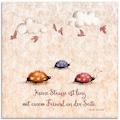 Artland Glasbild »Lebensweisheit Freunde«, Tiere, (1 St.)