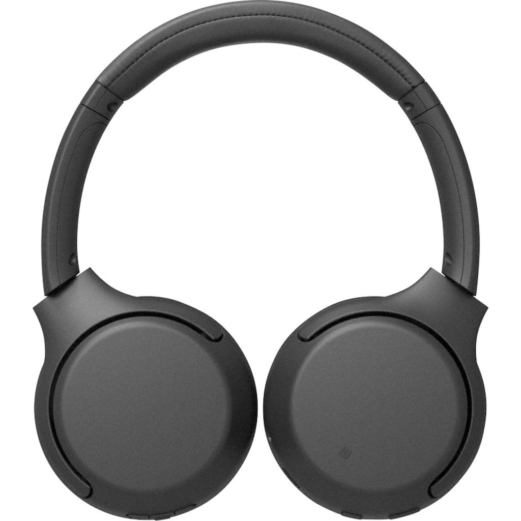 Sony Kopfhörer »WH-XB700 Bluetooth«, Bluetooth-NFC, Freisprechfunktion, Headset mit Mikrofon, Amazon Alexa & Google Assistant, Gestensteuerung