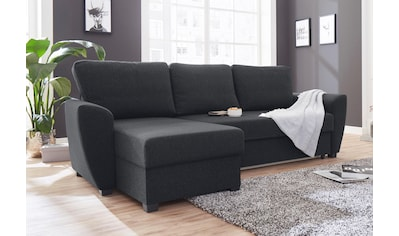 ATLANTIC home collection Ecksofa, inklusive Bettfunktion und Bettkasten kaufen