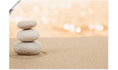 Artland Wandbild »Zen Steine im Sand«, Zen, (1 St.), in vielen Größen & Produktarten -... kaufen