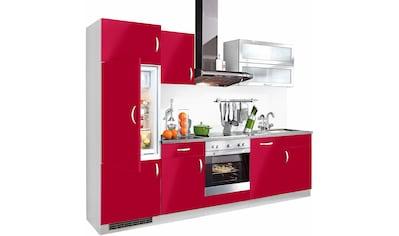 wiho Küchen Küchenzeile »Amrum«, mit E-Geräten, Breite 280 cm kaufen