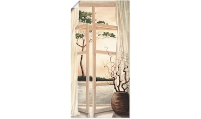Artland Wandbild »Fensterbild Toskanischer Sonnenuntergang«, Fensterblick, (1 St.), in... kaufen