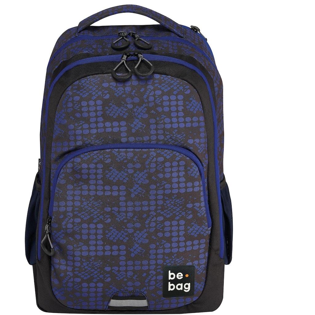 Pelikan Schulrucksack »be.bag be.ready, smashed dots«, Reflektionsnähte-reflektierende Streifen auf den Schultergurten