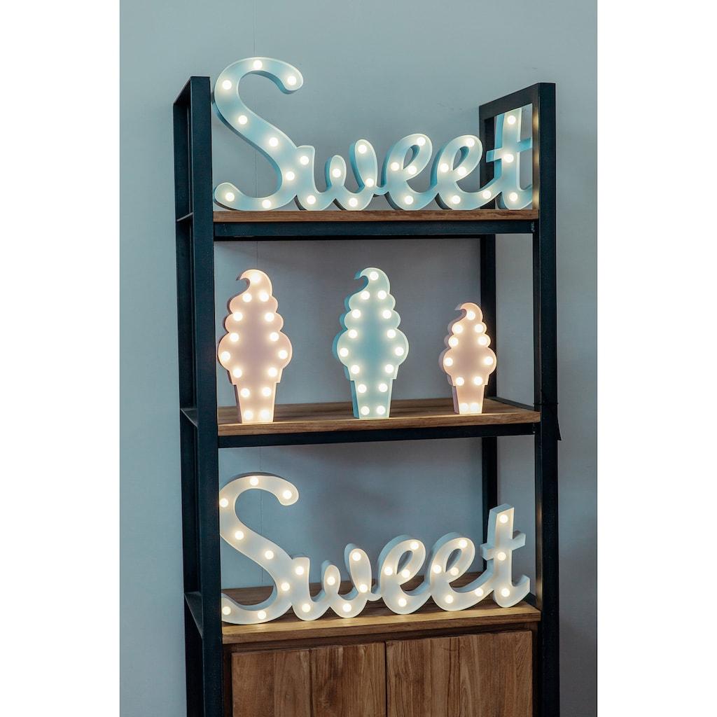 MARQUEE LIGHTS LED Dekolicht »Eistüte«, 1 St., Warmweiß, Wandlampe, Tischlampe Icecream mit 15 festverbauten LEDs - 15cm Breit und 31cm hoch