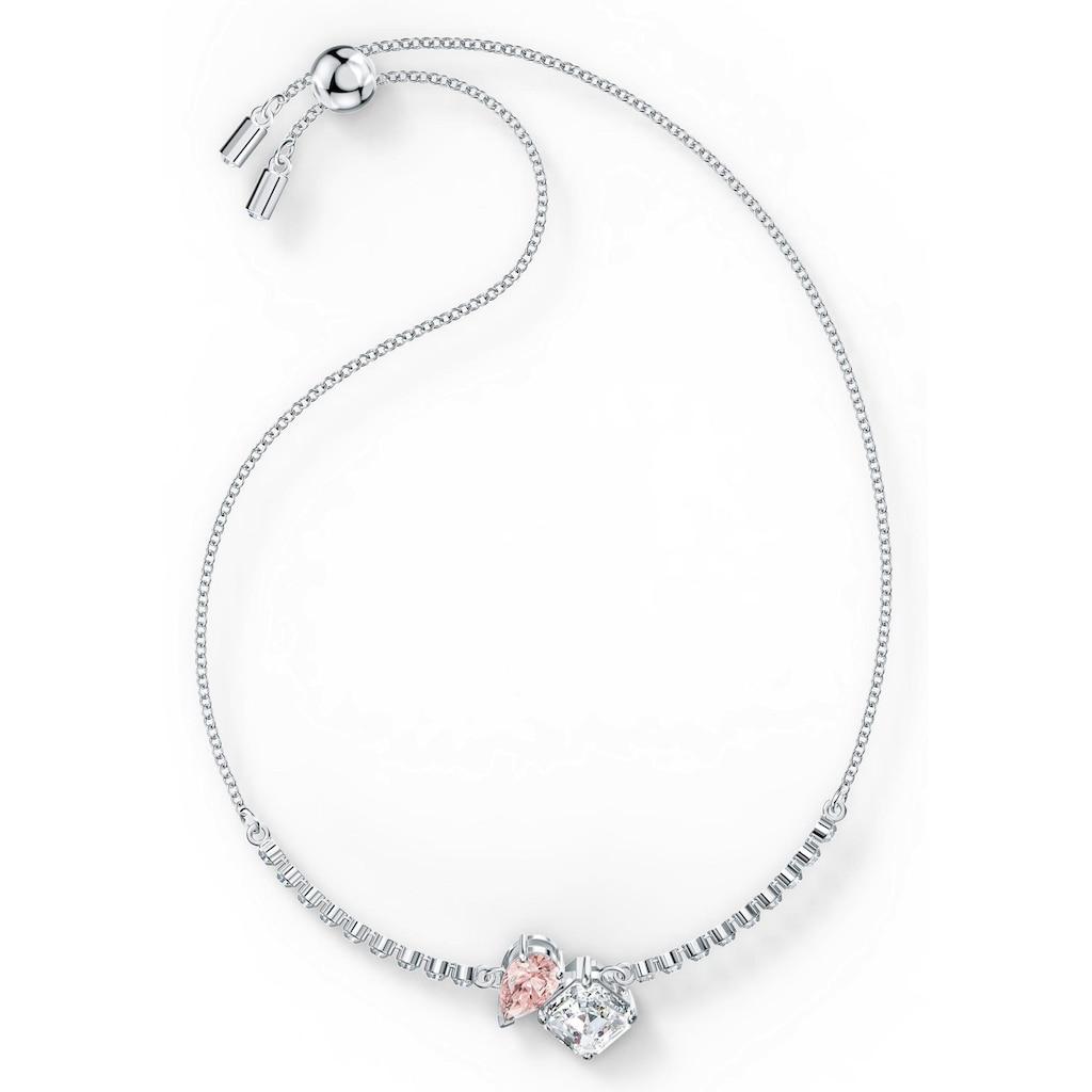 Swarovski Armband »Attract Soul, rosa, rhodiniert, 5517120«, mit Swarovski® Kristallen