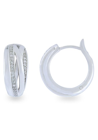 VILMAS Paar Creolen »SPRING, 4028146363670«, mit Zirkonia kaufen