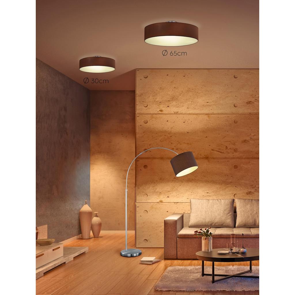 TRIO Leuchten Bogenlampe »Hotel«, E27, Fussschalter,Höhenverstellbar,Leuchtmittel tauschbar