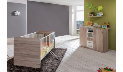 Babymöbel-Set »Bergamo«, (Spar-Set, 2 St.), Bett + Wickelkommode kaufen