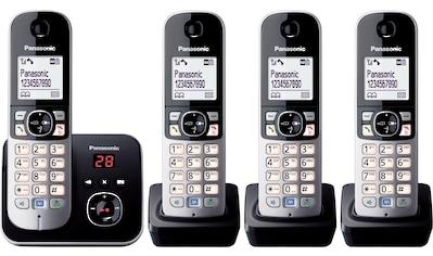 Panasonic Schnurloses DECT-Telefon »KX-TG6824GB«, (Mobilteile: 4 ), Nachtmodis, Freisprechen, Anrufbeantworter kaufen