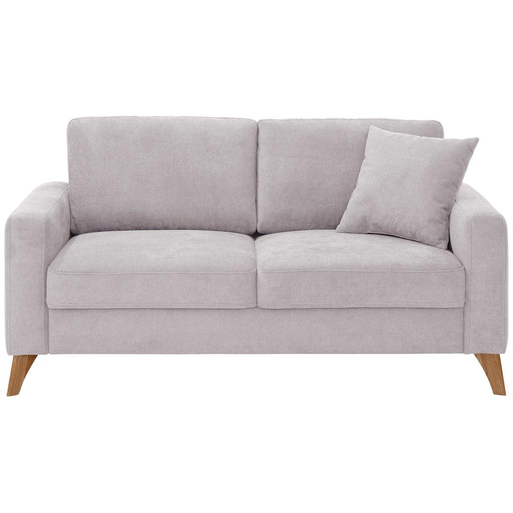 Home affaire 2,5-Sitzer »Stanza Luxus«, hohe Belastbarkeit pro Sitzplatz: 140kg, incl. 1 Zierkissen, Keder, B/T/H: 171/93/89 cm