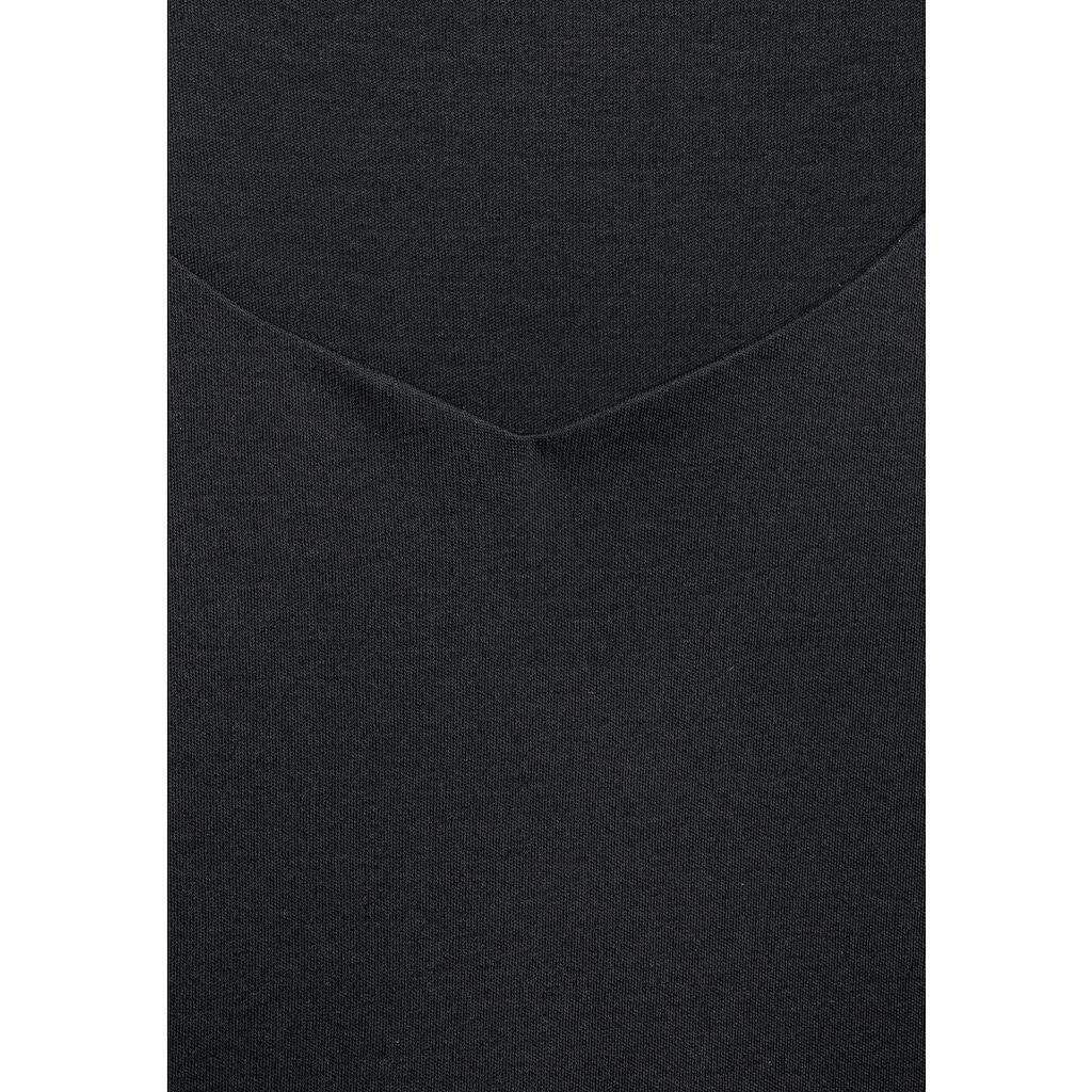 STREET ONE 3/4-Arm-Shirt, aus softem Materialmix