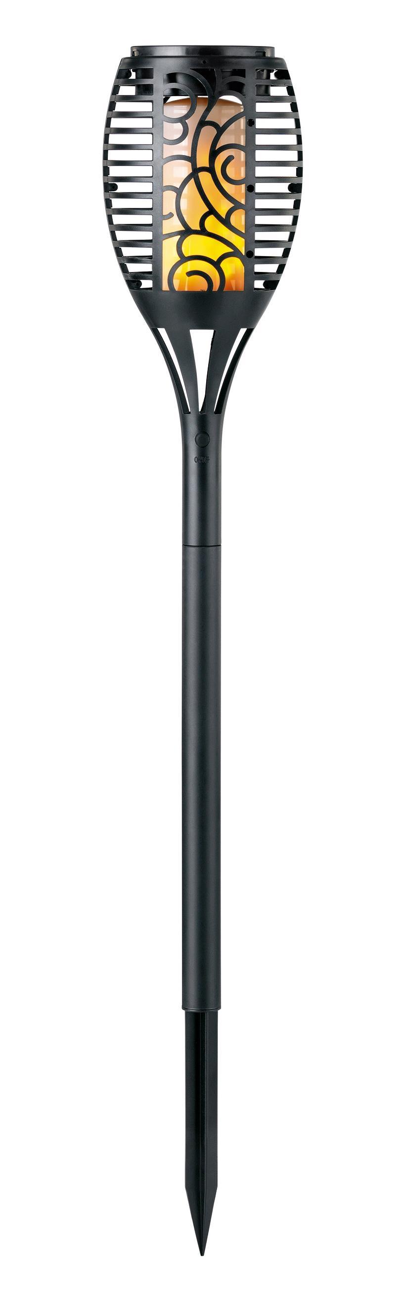 EASYmaxx,LED Gartenleuchte LED Fackel, schwarz