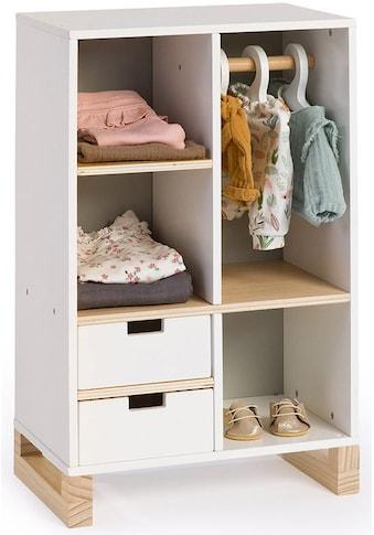 MUSTERKIND® Puppenkleiderschrank »Viola, weiß/natur/grau« kaufen