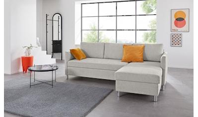 INOSIGN Ecksofa »Manlius«, mit Schlaffunktion, in verschiedenen Bezügen und Farben kaufen